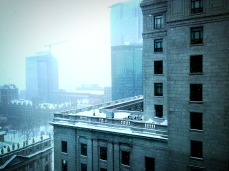 Neige sur la ville
